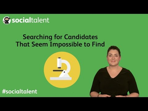 Searching for Candidates That Seem Impossible to Find
