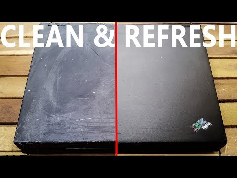 Thinkpad - clean & refresh surface with Magic Eraser & polish (full uncut) - part 3