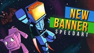 EPIC NEW BANNER SPEEDART! - Minecraft Universe Speedart by Rushlight Invader!