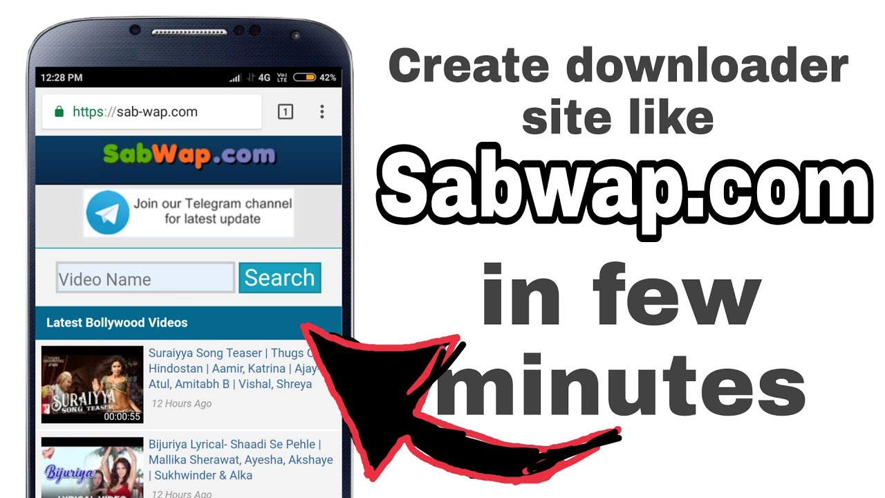 Download Create free downloader site like SABWAP.COM in few minutes/infinityfree[Hindi]