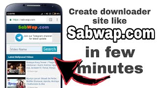 Create free downloader site like SABWAP COM in few minutes infinityfree Hindi