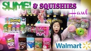 HUGE SLIME AND SQUISHIES SHOPPING HAUL AND VLOG AT WALMART - NEW SLIME AND SQUISHIES AT WALMART