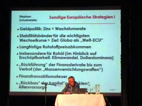 """New Deal"" für Europa - Dr. Stephan Schulmeister"
