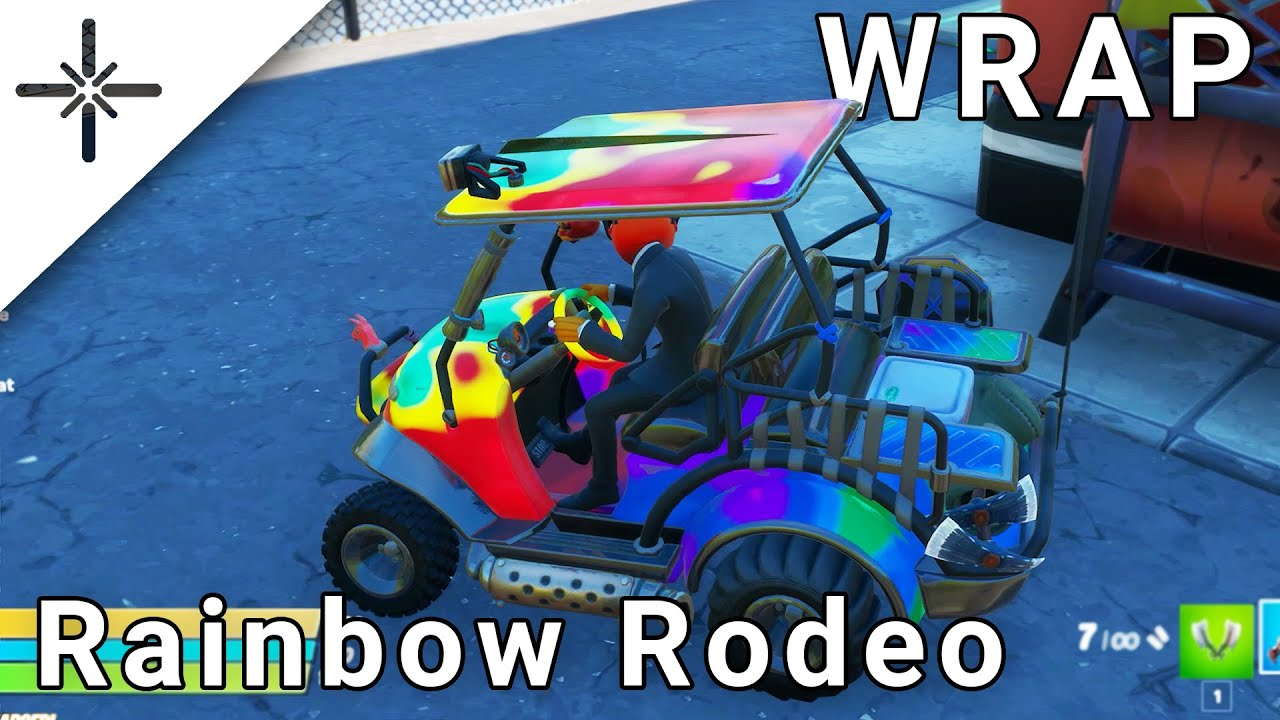 "NEW Fortnite ""Rainbow Rodeo"" Wrap Gameplay"