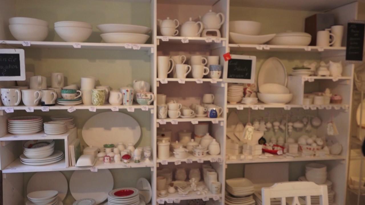 Keramik selbst bemalen: Das PorzellanCafé - YouTube