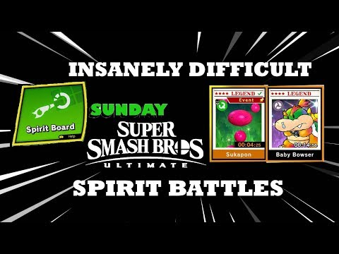 Spirit Board Sunday #13 | INSANELY HARD SPIRITS | Smash Bros Ultimate