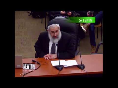 Rabbi Yosef Polter Chastises an Unrepentant Newton School Committee (May 13, 2019)