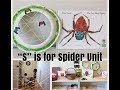 Home Preschool Shelf Work Activity Trays l Spider Unit Lesson