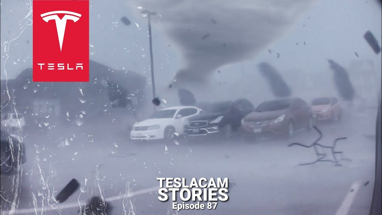 Download TESLA TRAPPED IN THE EYE OF A TORNADO | TESLACAM STORIES #87