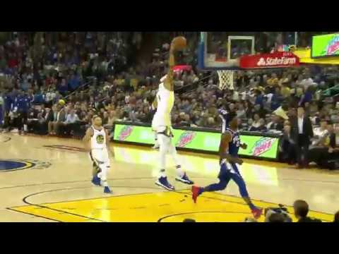 Javale McGee steal and dunk