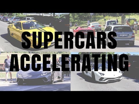 SUPERCARS ACCELERATING!! - Cars & Coffee Stockholm  |  CARS WITH ROBERT
