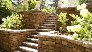 видео Садовые лестницы и подпорные стены в ландшафтном дизайне