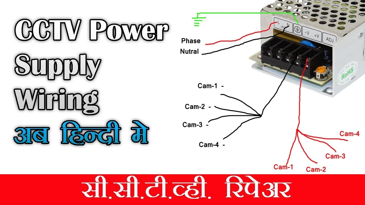 cctv power supply installation what inside youtube. Black Bedroom Furniture Sets. Home Design Ideas