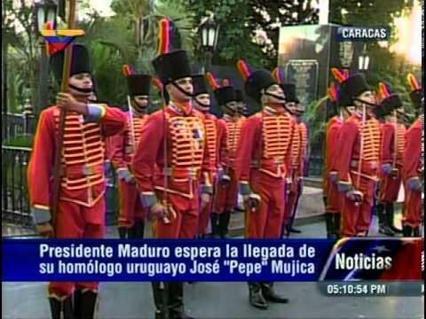 """12 NOV 2013 Visita del Pdte de la República Oriental del Uruguay, José """"Pepe"""" Mujica a Caracas"""