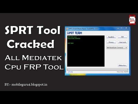 SPRT Tool v.1.0.5 Cracked All Mediatek FRP Unlock Tool