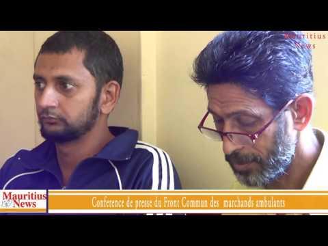 Mauritius News: Conférence de presse du Front Commun des Marchands Ambulants