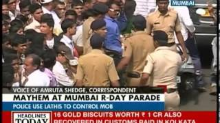 Mayhem marks Republic Day parade in Mumbai