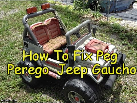 how to fix peg perego power wheel jeep gaucho peg perego. Black Bedroom Furniture Sets. Home Design Ideas