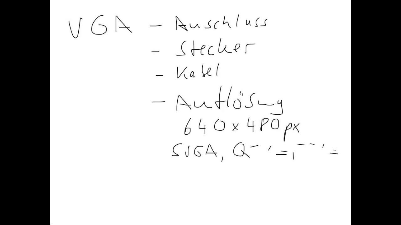 VGA (Anschluss, Steckverbindung, Kabel, Auflösung) - YouTube