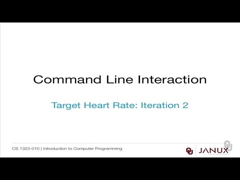 Introduction to Computer Programming - Command Line Interaction - Target Heart Rates: Iteration 2