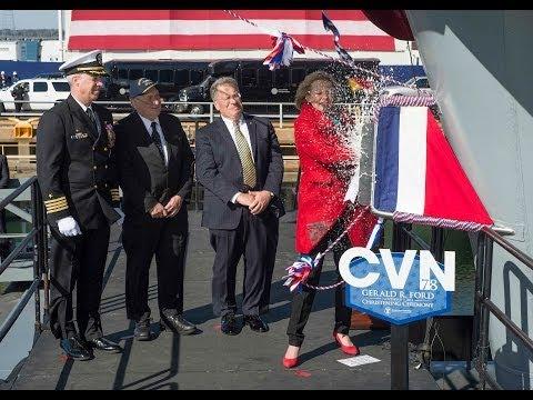 Gerald R. Ford (CVN 78) Christened