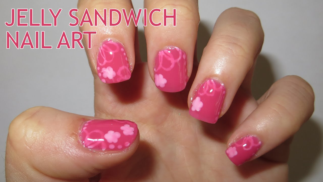 Jelly Sandwich Nail Art (Requested) - YouTube