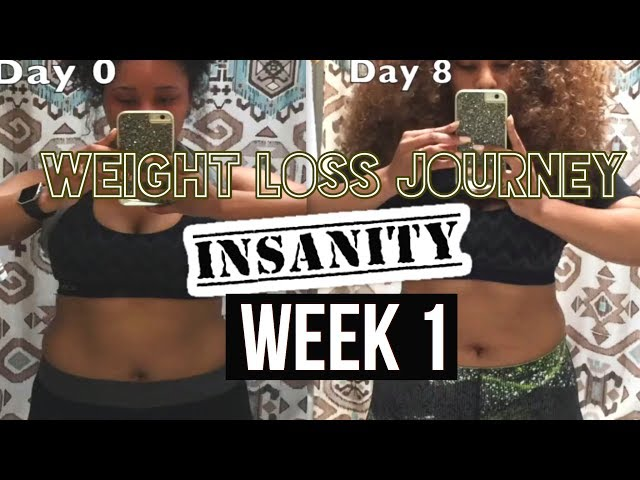 starting my weight loss journey! | insanity week one results (with pictures)