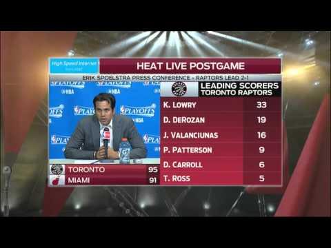 Erik Spoelstra -- Miami Heat vs. Toronto Raptors Game 3 05/07/2016