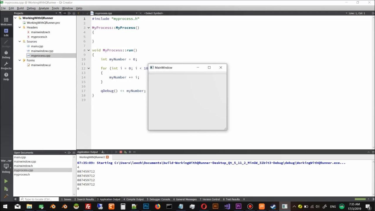Qt5 C++ GUI Programming Cookbook, Second Edition | 7  Threading Basics -  Asynchronous Programming