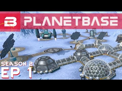PlanetBase - The Blue Planet - Ep 1 (Space Survival Strategy Gameplay)