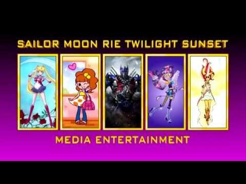 Sailor Moon Rie Twilight Sunset Media Entertainment logo + IDs