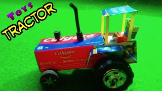 How to make Colgate toys tractor at home, toys tractor video, Lipi Toys
