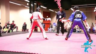 Zach Winder vs  Dwight Bargainer Team Sparring Rd 2 - 2016 AKA Warrior Cup