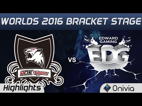 ROX vs EDG Highlights Game 4 Worlds 2016 Bracket Stage ROX Tigers vs Edward Gaming