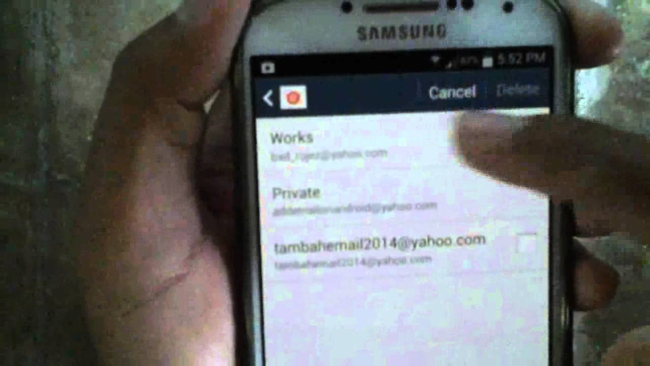 how to delete emails on a samsung s4