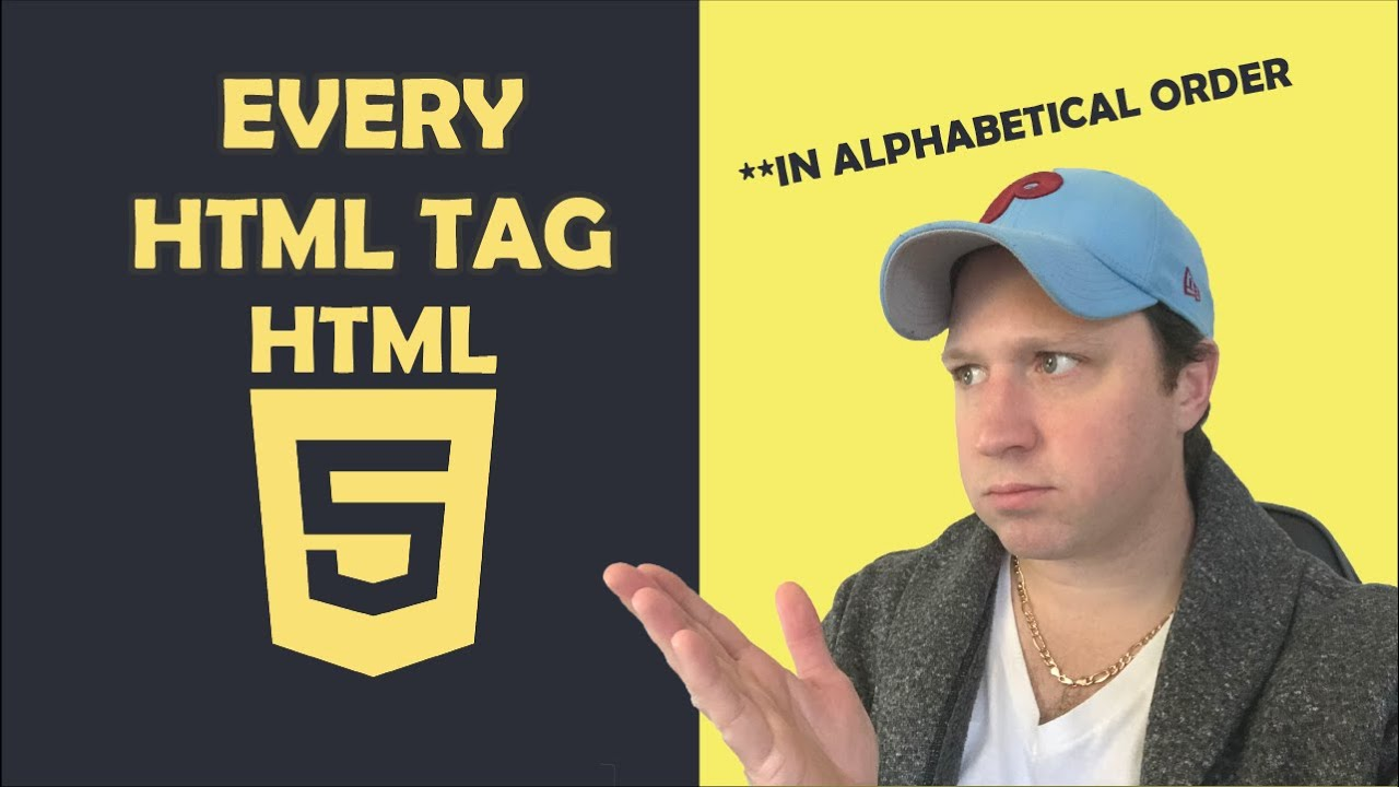 All Must Know HTML Tags in Alphabetical Order HTML5 | Every HTML Tag