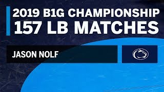 Path to the 157 LB Title: Every Jason Nolf Match at the 2019 B1G Wrestling Championships