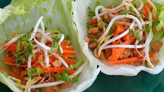 Chicken Lettuce Wraps -- The Frugal Chef