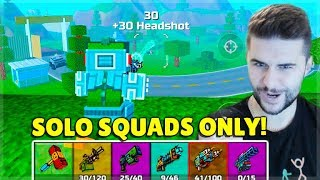 I JOINED SQUADS GAMES AS A SOLO PLAYER IN BATTLE ROYALE! | Pixel Gun 3D