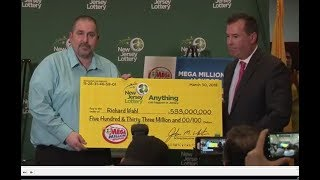 NJ man claims $533 million Mega Millions lottery jackpot