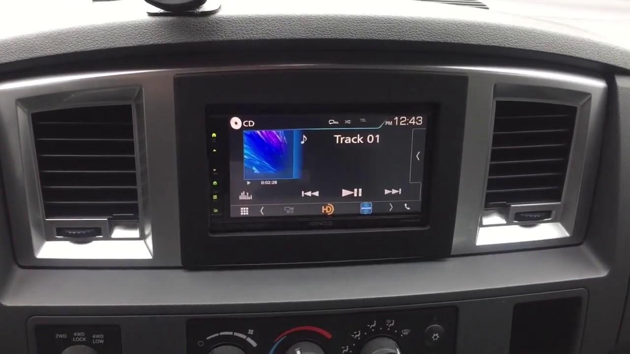 Dodge Ram 2006 to 2010 single din radio to double din radio