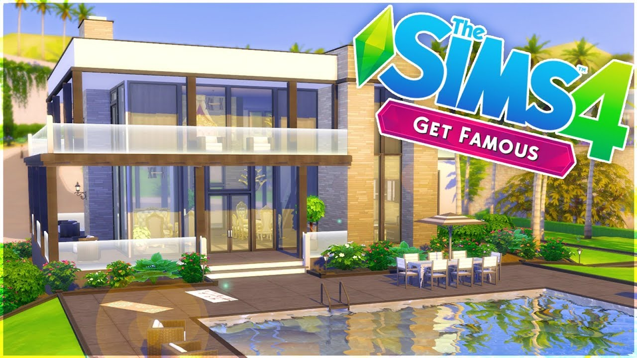 The Sims 4 Get Famous   Celebrity Home Build - YouTube