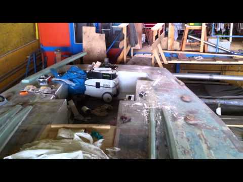 Overview of deck - Restoration of Ron Holland IOR racer, Flirt of Paget