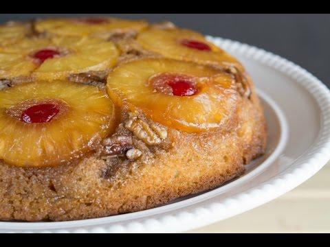 Pineapple Upside-Down Cake Reipe   How To Make A Pineapple Cake   SyS