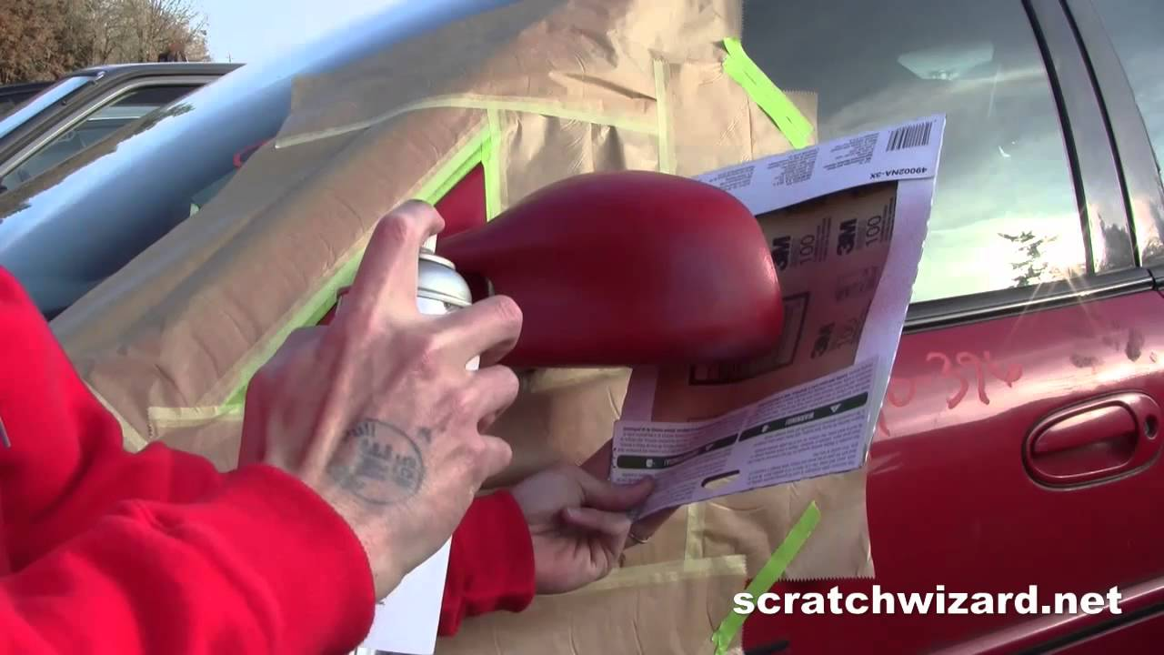 Repaint Side Mirror With Spray Paint Youtube