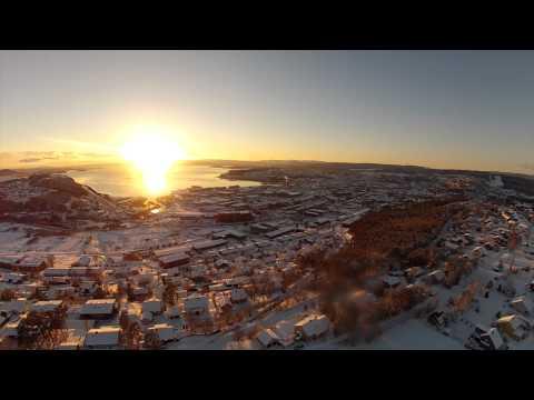 A flight over Steinkjer city