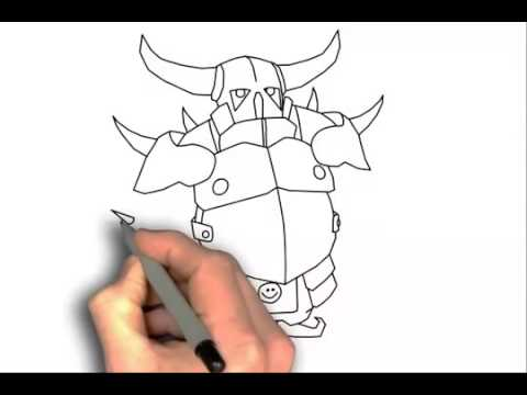 CLASH OF CLANS P.E.K.K.A NASIL CIZILIR How To Draw Pekka Clash Of Clans   Easy Drawing Tutorial