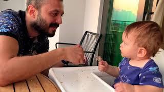 Aliasaf 11 aylık,Bebeğinize yemek yedirirken birde bunu deneyin🤣🤣