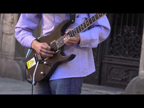 Kamil Yugol Groblewicz, AMAZING street electric guitarist performance compilation! PART 1