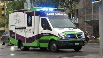 [RARE] BABY AMBULANZ auf Einsatzfahrt | Baby Ambulance in Zurich
